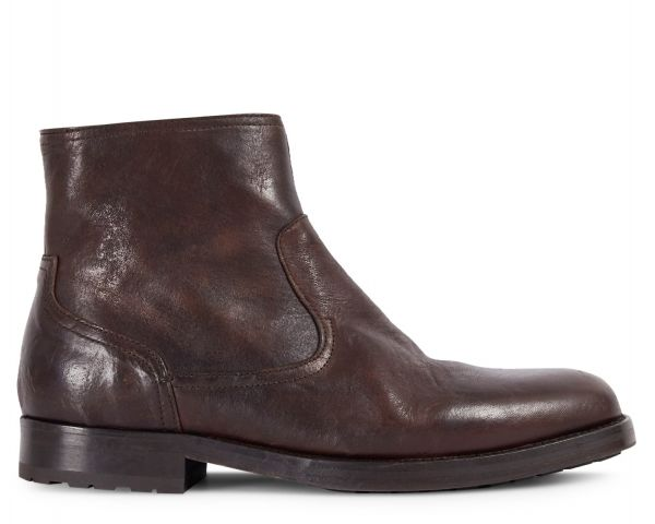 Mens Flynn Brown Zip Boot Side