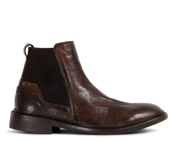 Mens Hoffman Brown Chelsea Boot Side
