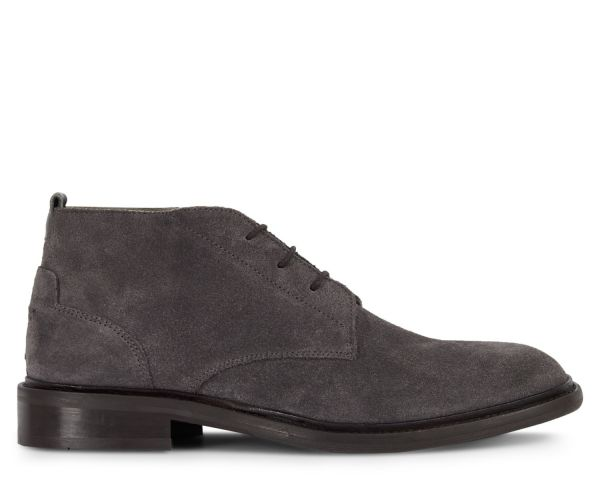 Mens Drey Suede Grey Chukka Boot Side