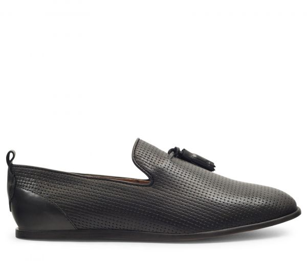 Comber Black Slip On Loafer