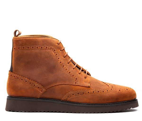 Cooper Tan Brogue Boot