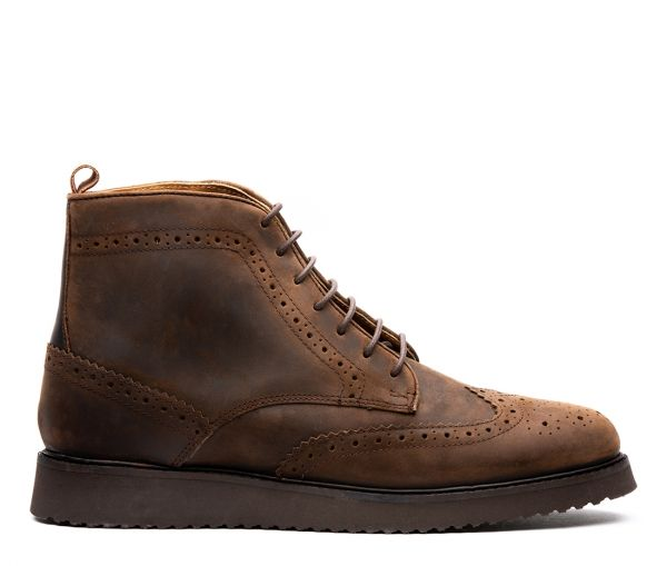 Cooper Brown Brogue Boot