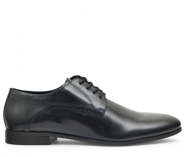 Craigavon Hi Shine Black Derby Shoe