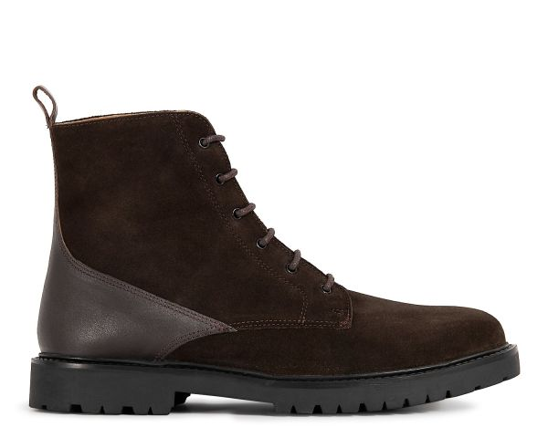 Mens Perry Suede Brown Boot Side