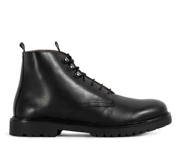 Mens Hastings Black Boot Side
