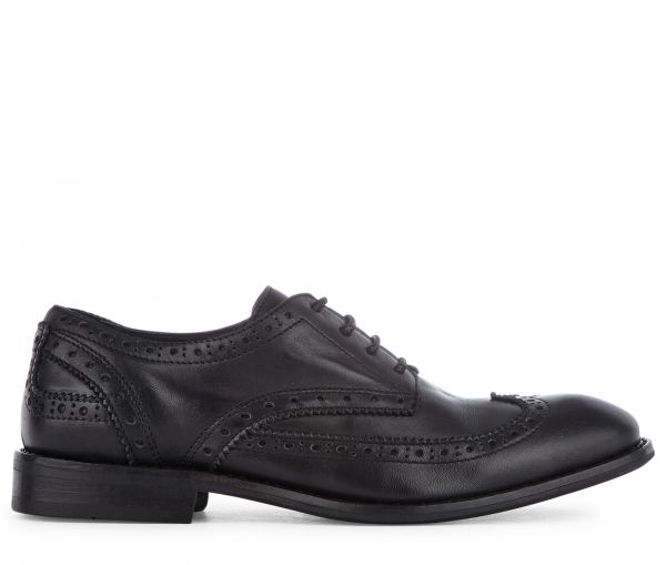 Brogue Shoe Ivory Black Side View