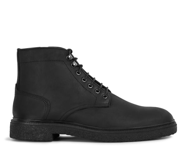 Mens Jennings Black Boot Side