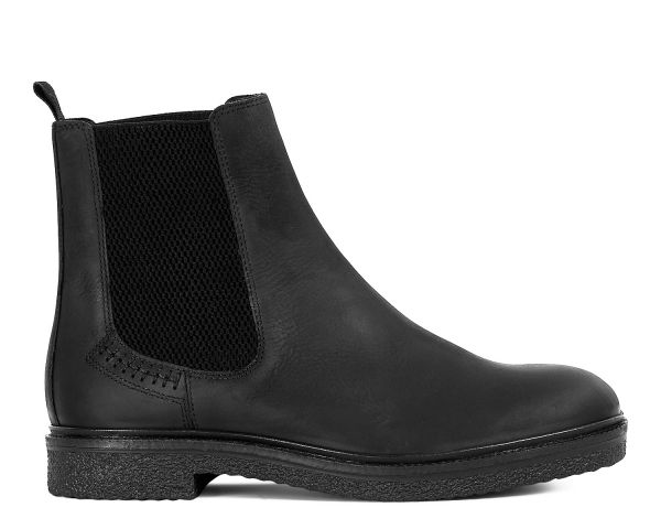 Mens Martell Black Chelsea Boot Side
