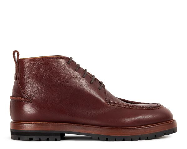 Mens Brennan Brown Chukka Boot Side