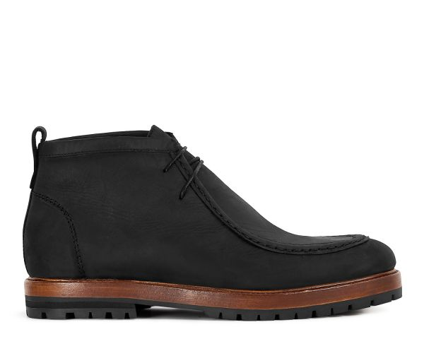 Mens Brandt Black Boot Side