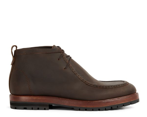 Mens Brandt Brown Boot Side