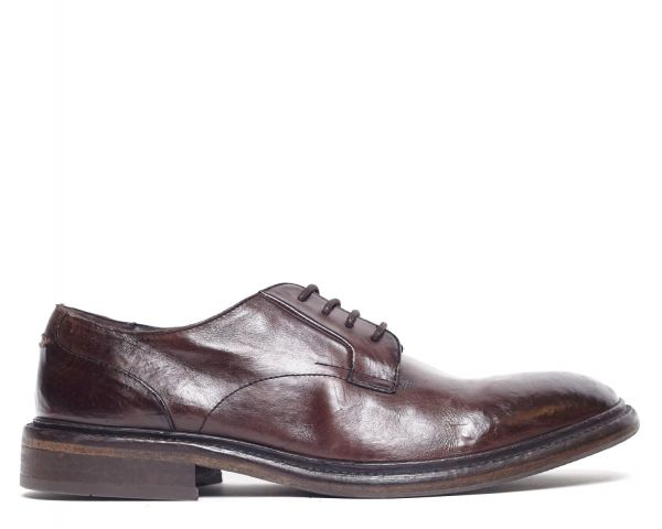 Mens Kline Brown Derby Shoe Side