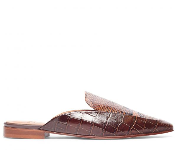Mari Snake Brown Mule