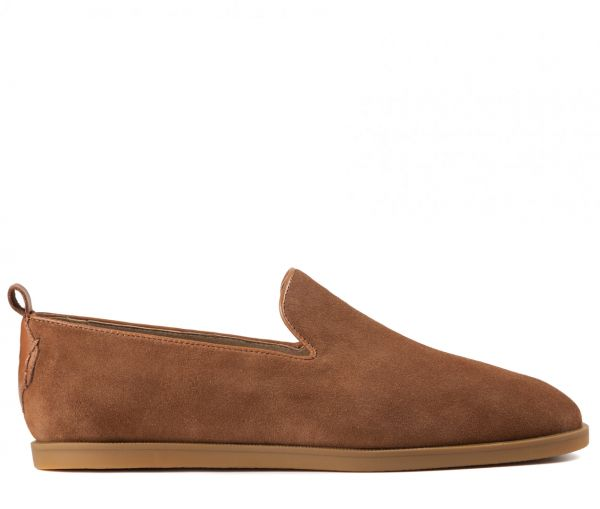 Parker Suede Tan Slip On Loafer