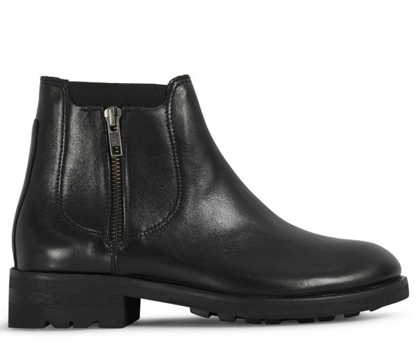 Womens Algoma Black Chelsea Boot Side