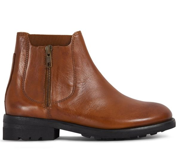 Womens Algoma Tan Chelsea Boot Side