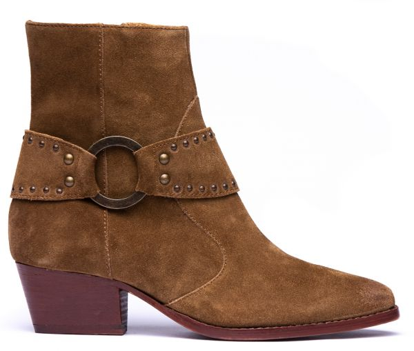 Rodeo Suede Caramel Heeled Boot