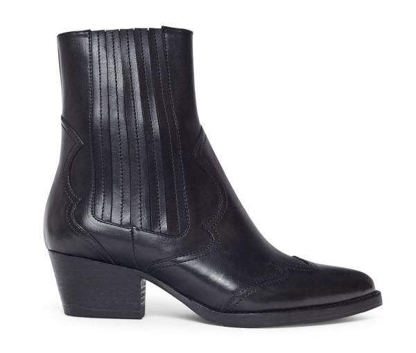 Womens Sienna Black Chelsea Boot Side