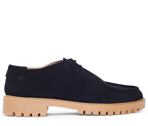 Sledge Suede Black Shoe