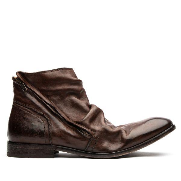 Hudson London Mens Noel Brown Zip Boot Side