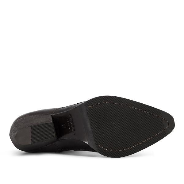 Hudson London Womens Eva Black Zip Heeled Boot Sole