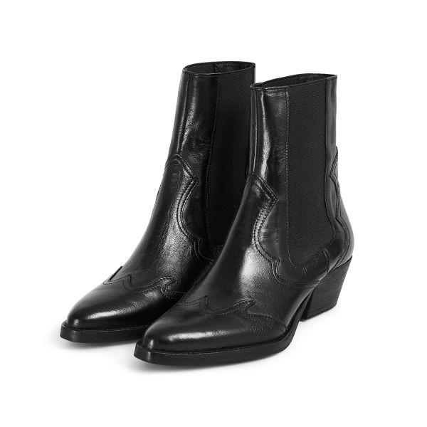 Hudson London Womens Darcey Leather Black Chelsea Boot Three Quarter