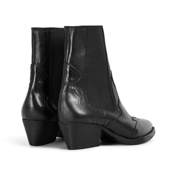 Hudson London Womens Darcey Leather Black Chelsea Boot Detail