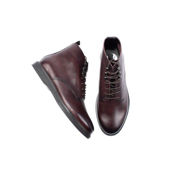 Mens Battle Brown Boot Top