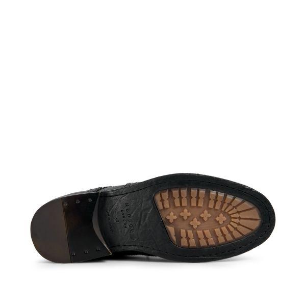 Hudson London Mens Fryatt Black Zip Boot Sole