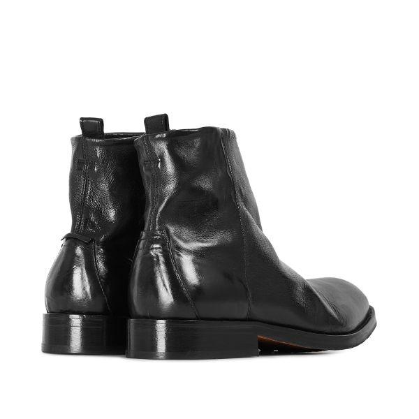 Hudson London Mens Fryatt Black Zip Boot Detail
