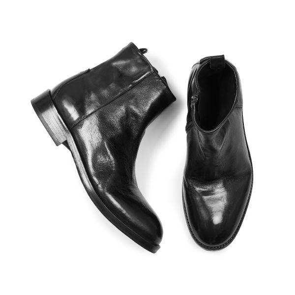 Hudson London Mens Fryatt Black Zip Boot Top