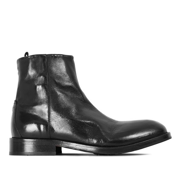 Hudson London Mens Fryatt Black Zip Boot Side