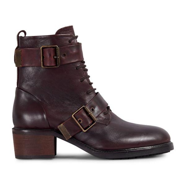 Womens Stanton Bordeaux Boot Side