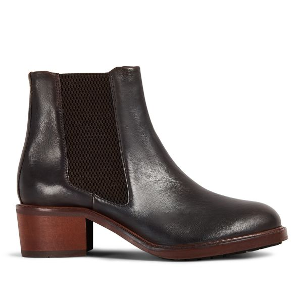 Hudson London Women's Ridley Leather Brown Chelsea Boot Side