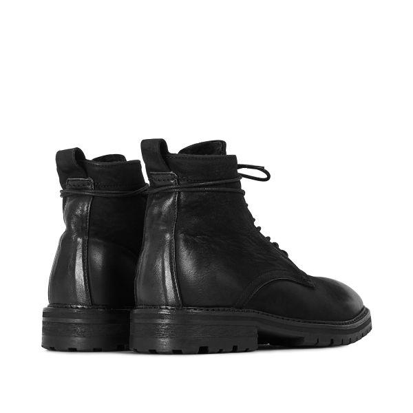 Hudson London Mens Howden Black Shearling Boot Detail