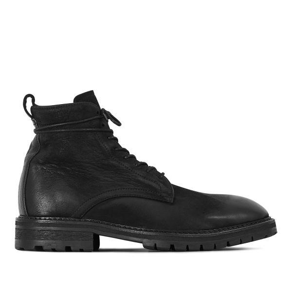 Hudson London Mens Howden Black Shearling Boot Side
