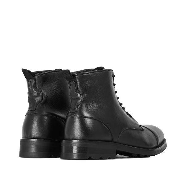 Hudson London Mens Hallet Black Boot Detail