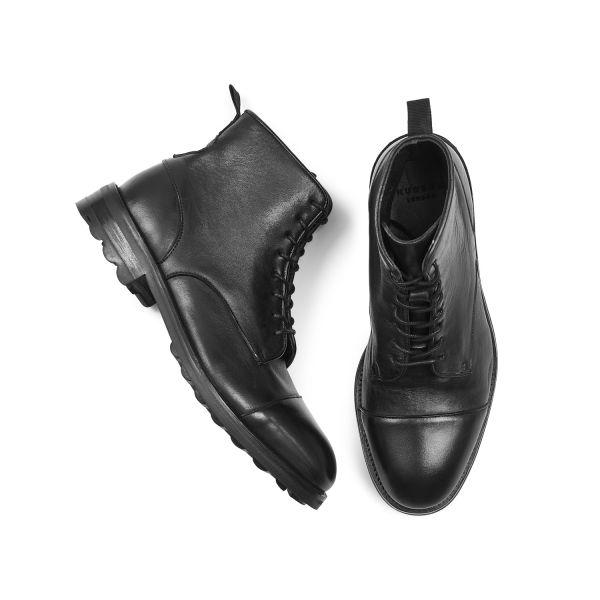 Hudson London Mens Hallet Black Boot Top