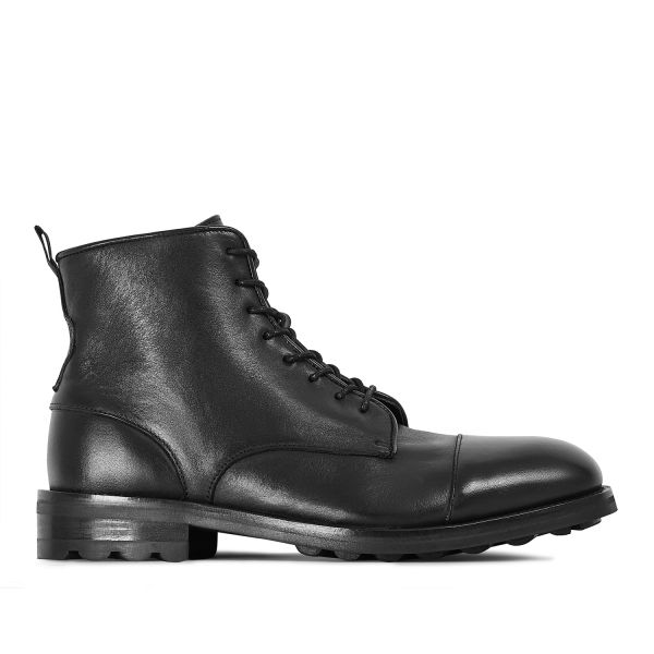 Hudson London Mens Hallet Black Boot Side