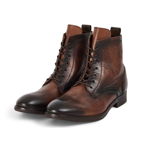Hudson London Mens Swathmore Brown Lace Up Boot Three Quarter