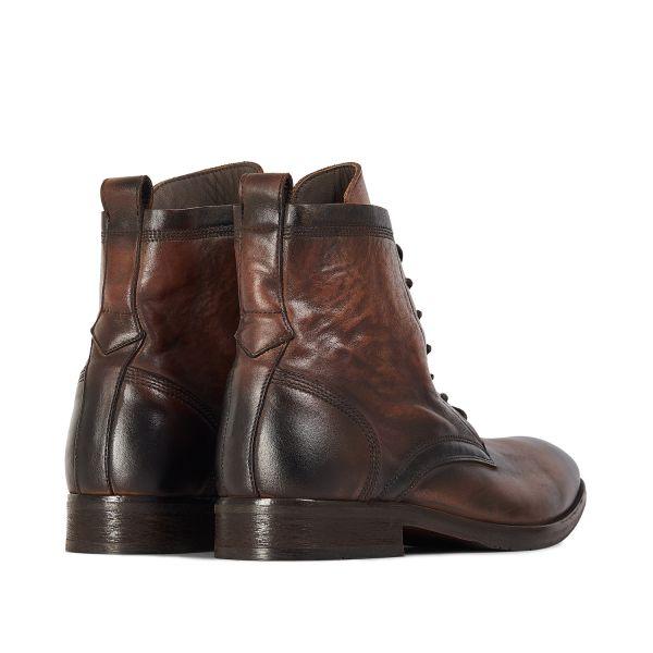 Hudson London Mens Swathmore Brown Lace Up Boot Detail
