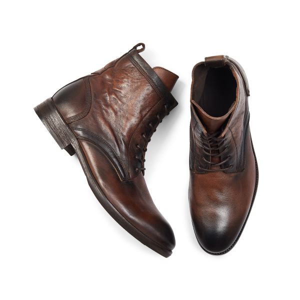 Hudson London Mens Swathmore Brown Lace Up Boot Top