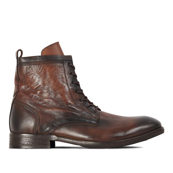 Hudson London Mens Swathmore Brown Lace Up Boot Side