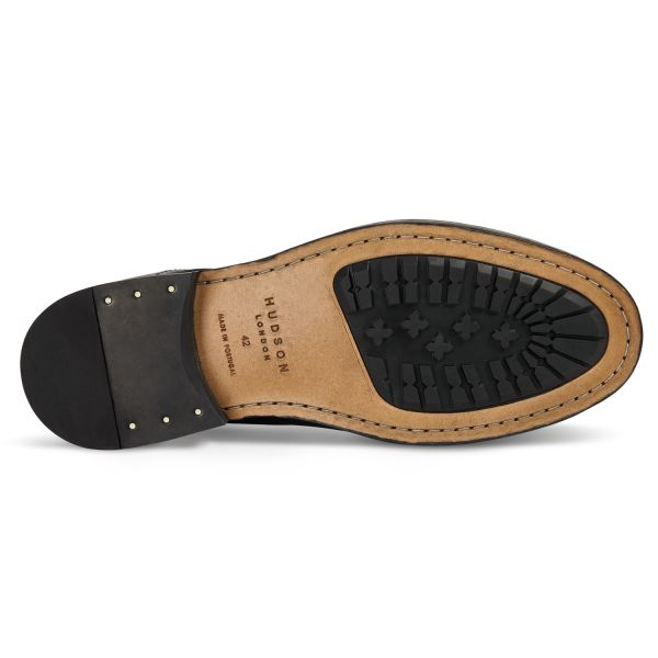 Mens Yew Leather Black Boot Sole