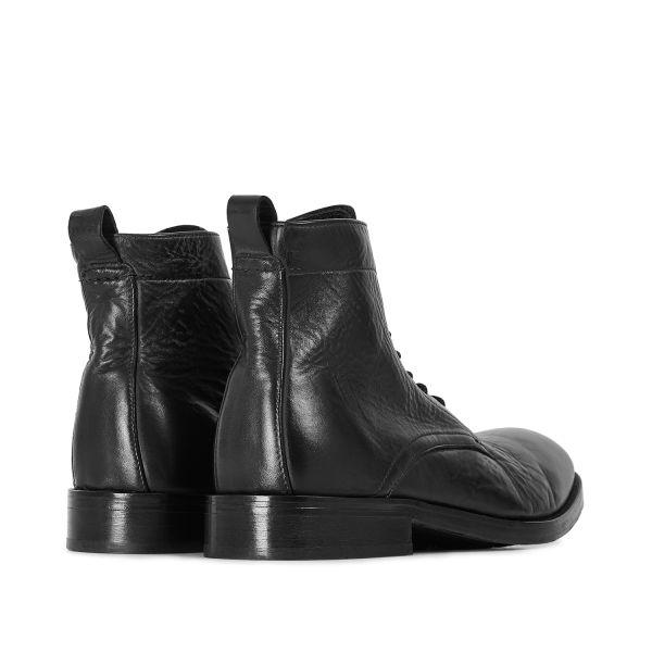 Hudson London Mens Cedar Leather Blace Lace Up Boot Detail