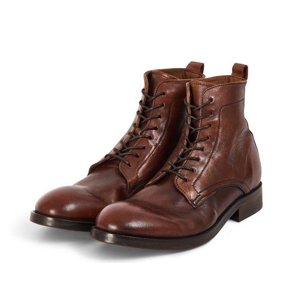 Hudson London Mens Cedar Leather Tan Lace Up Boot Three Quarter