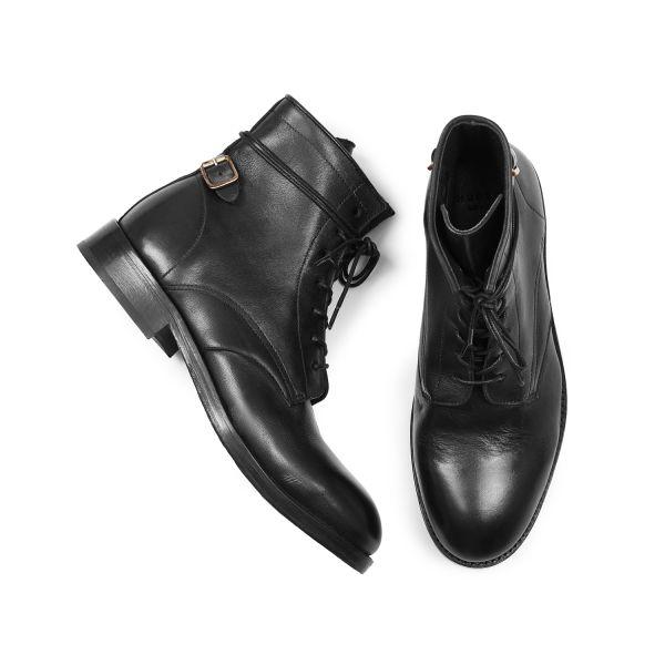 Hudson London Mens Brydon Black Boot Top