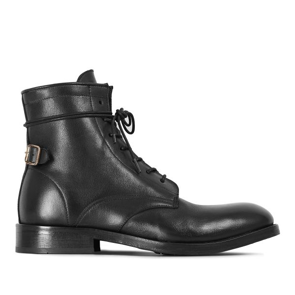 Hudson London Mens Brydon Black Boot Side