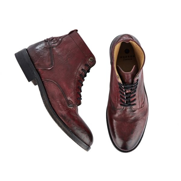 Lace Up Boot Gypsum Bordeaux