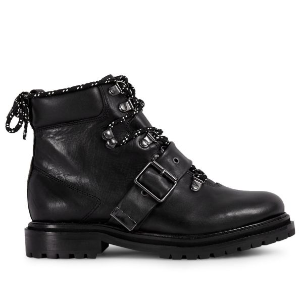 Womens Piper Black Boot Side